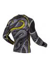 Рашгард с длинным рукавом VENUM SNAKER черно-желтый