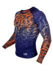 Рашгард с длинным рукавом VENUM TROPICAL COMPRESSION сине-оранжевый