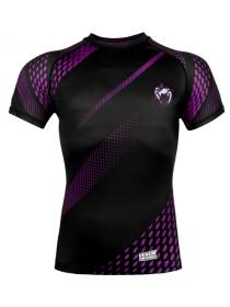 Рашгард с коротким рукавом VENUM RAPID черно-фиолетовый