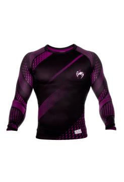 Рашгард с длинным рукавом VENUM RAPID черно-фиолетовый