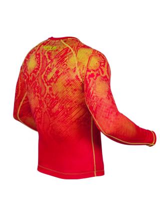 Рашгард с длинным рукавом VENUM FUSION COMPRESSION красный