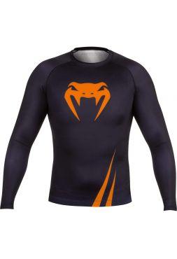 Рашгард с длинным рукавом VENUM CHALLENGER черно-оранжевый