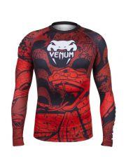 Рашгард с длинным рукавом Venum Crimson Viper красно-черный