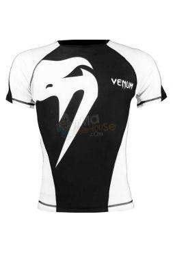 Рашгард с коротким рукавом Venum Giant черно-белый
