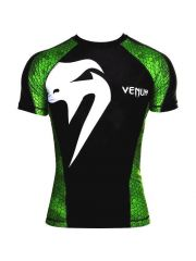 Рашгард с коротким рукавом Venum Giant черно-зеленый