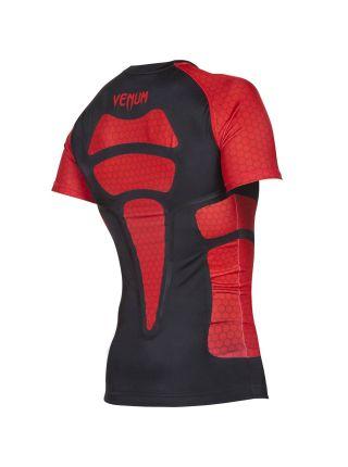 Рашгард с коротким рукавом Venum Absolute черно-красный