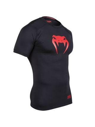 Рашгард с коротким рукавом Venum Contender черно-красный