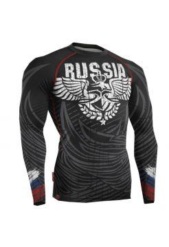 Рашгард с длинным рукавом Земля Воинов «RUSSIA»