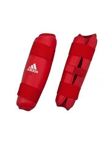 Защита голени Adidas PU Shin Guard красная