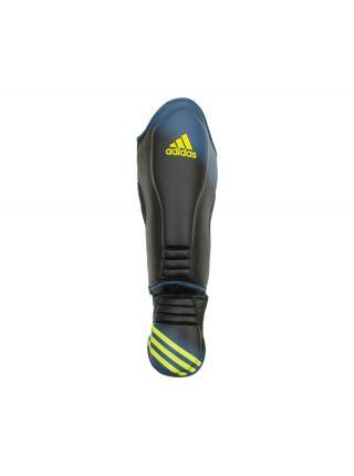 Защита голени и стопы Adidas Super Pro Speed Shin Instep черно-синяя