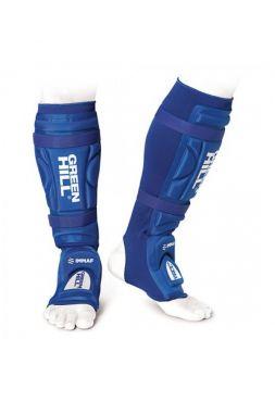Защита голени и стопы Green Hill MMA SHINPAD IMMAF APPROVED синяя
