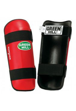 Защита голени Green Hill SHIN PAD PANTHER красная