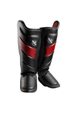 Защита голени и стопы Hayabusa T3 черно-красная