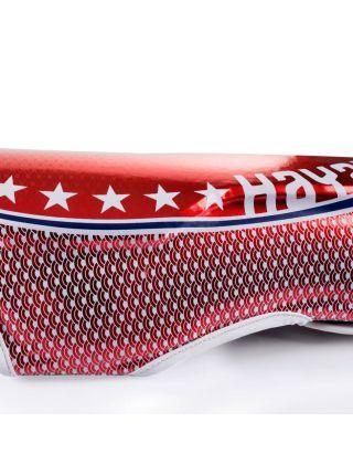 Защита голени и стопы Hayabusa Pro Muay Thai красная