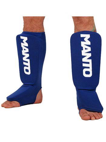 Защита голени и стопы MANTO LOGOTYPE синяя