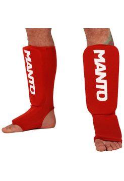 Защита голени и стопы MANTO LOGOTYPE красная