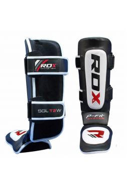 Защита голени и стопы RDX Cow Hide Leather MMA черная