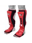 Защита голени и стопы RDX MMA Cow Hide Leather красная