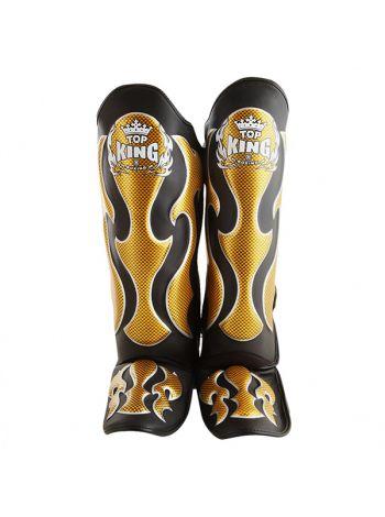 Защита голеностопа и стопы Top King (TKSGEM) черная с золотом на липучке