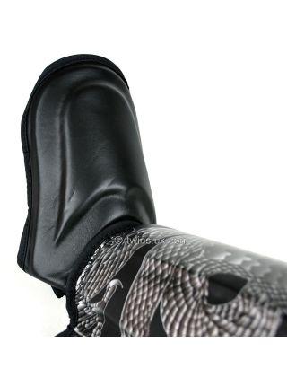 Защита голени и стопы Twins FSG-23 черно-серебряная