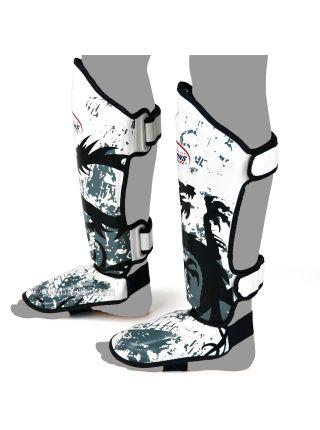 Защита голени и стопы Twins FSG-36 бело-серая