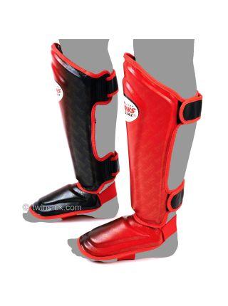 Защита голени и стопы Twins FSG-TW1 красно-черная
