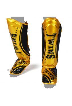 Защита голени и стопы Twins FSG-TW4 черно-золотая