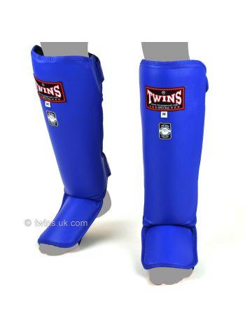 Защита голени и стопы Twins Slim Padded SGL-3 голубая