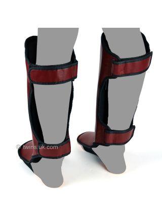 Защита голени и стопы Twins Slim Padded SGL-3 бордовая