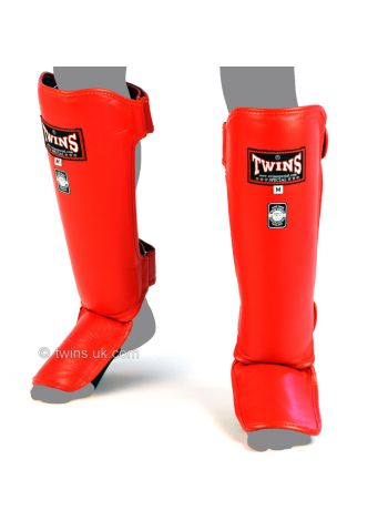 Защита голени и стопы Twins Slim Padded SGL-3 красная