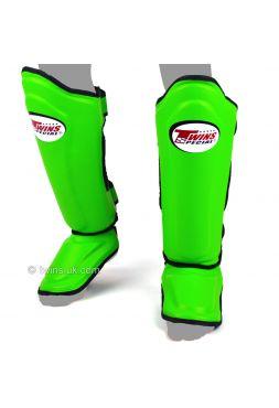 Защита голени и стопы Twins Double Padded SGMC-10 зеленая