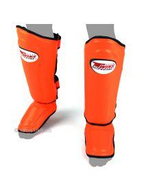 Защита голени и стопы Twins Double Padded SGMC-10 оранжевая