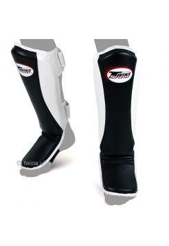 Защита голени и стопы Twins Super Slim SGMC-8 черно-белая