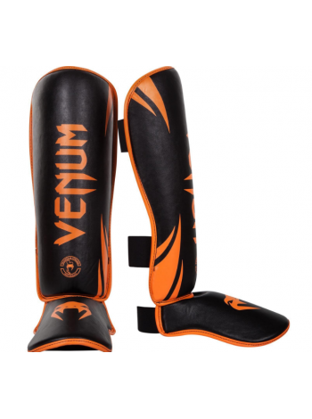Защита голени и стопы VENUM CHALLENGER черно-оранжевая