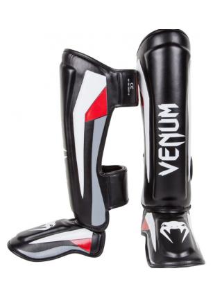 Защита голени и стопы VENUM ELITE черно-серо-красная