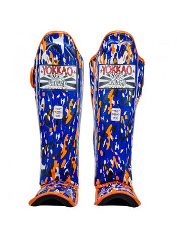 Защита голени и стопы Yokkao Apache синяя