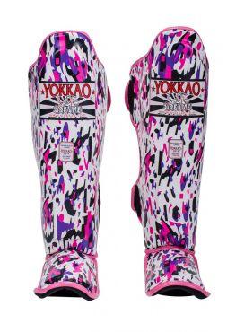 Защита голени и стопы Yokkao Apache розовая