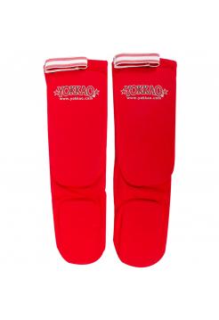 Защита голени и стопы Yokkao Cotton красная