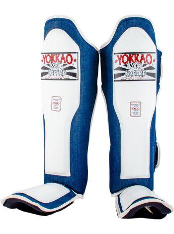 Защита голени и стопы Yokkao Denim белая