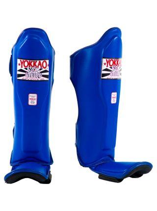 Защита голени и стопы Yokkao Matrix синяя