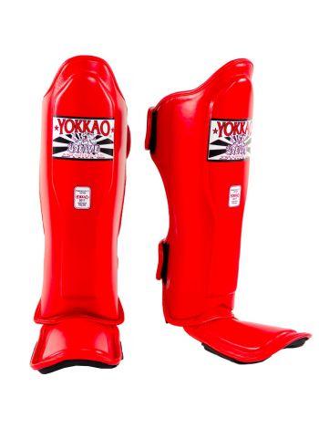 Защита голени и стопы Yokkao Matrix красная