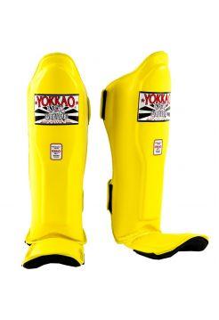 Защита голени и стопы Yokkao Matrix желтая