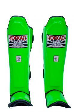 Защита голени и стопы Yokkao Neon зеленая
