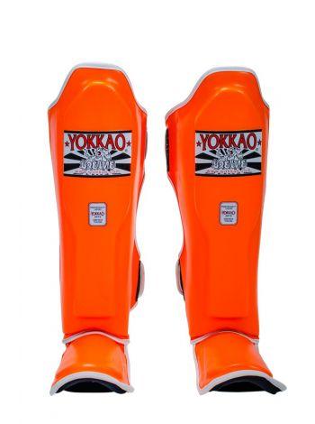 Защита голени и стопы Yokkao Neon оранжевая