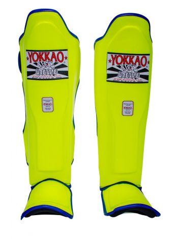 Защита голени и стопы Yokkao Neon желтая