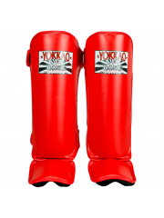 Защита голени и стопы Yokkao Basic красная