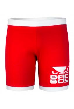 Компрессионные шорты ММА BAD BOY AMERICANA VALE TUDO LONG красные