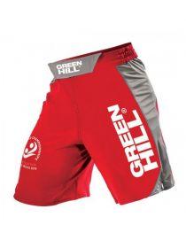 Шорты Green Hill MMA SHORT IMMAF APPROVED красные