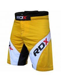 Шорты RDX Tricolor Fighting MMA желтые