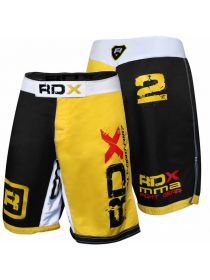 Шорты RDX Combat Shorts MMA Polygon желтые
